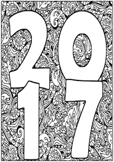 new year 2017 coloring pages for adult