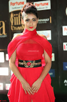 Apoorva in a Stunning Tight Leg Split Sleeveless Red Gown at IIFA Utsavam Awards 44.JPG