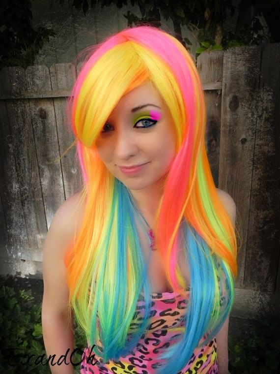 Multi-colored hair don't care! Images and Video Tutorials ...