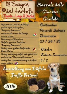 Sagra del Tartufo dal 23 al 25 settembre Tignale (BS) 2016