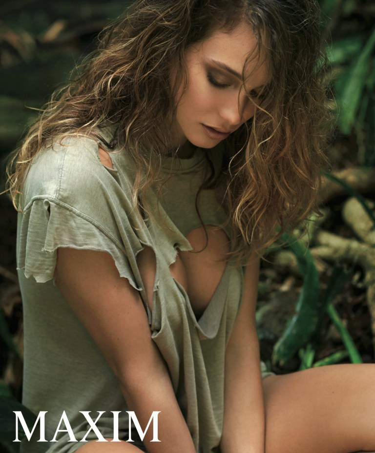 Hannah Davis is nearly naked for Maxim March 2016