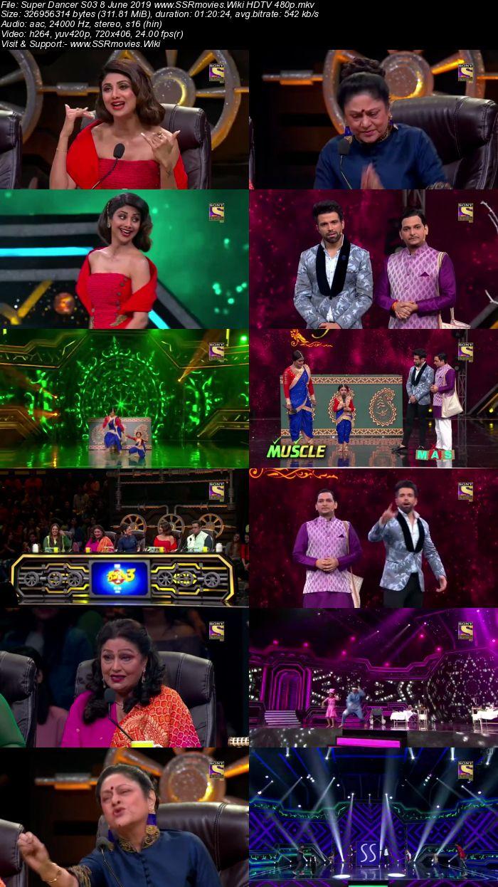 Super Dancer S03 8 June 2019 HDTV 480p Full Show Download
