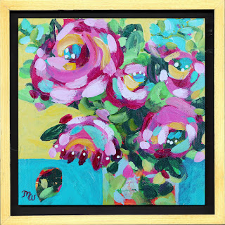 Floral mini painting by Merrill Weber