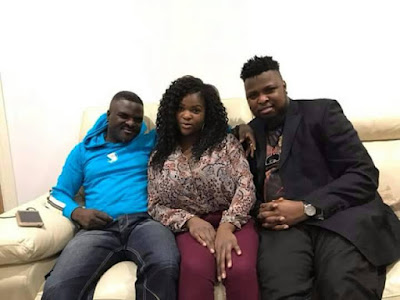 Fuji Star, Obesere Spotted Posing With Kids (Photos)