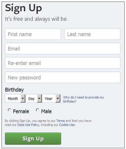 My Facebook Login Sign in
