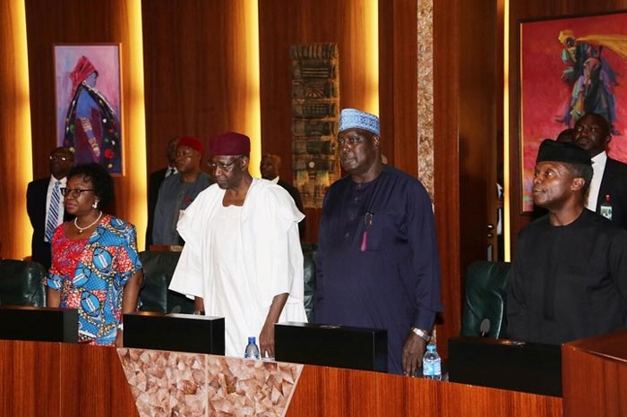 Photos: Vice president Yemi Osinbajo presides over FEC meeting today