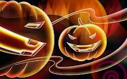 halloween cute wallpapers cartoons backgrounds desktop pumpkin pumpkins neon hd bing