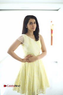 Rashi Khanna in a very cute yellow dress spicy pics