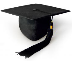 Graduation Cap, Black