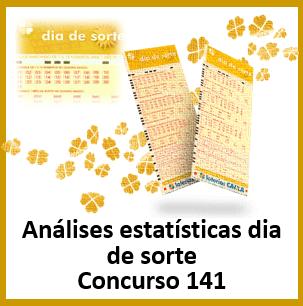 Estatísticas dia de sorte 141 análises das dezenas