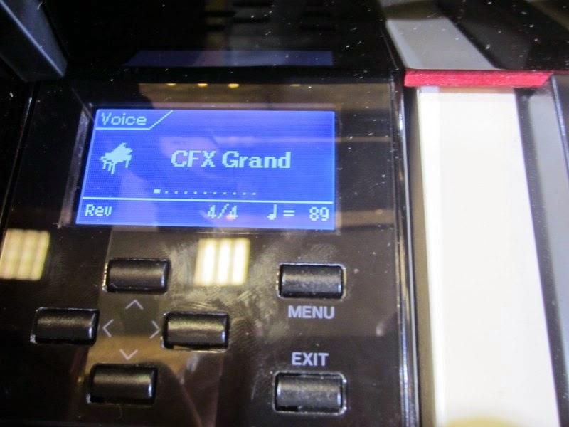 Yamaha CLP control panel