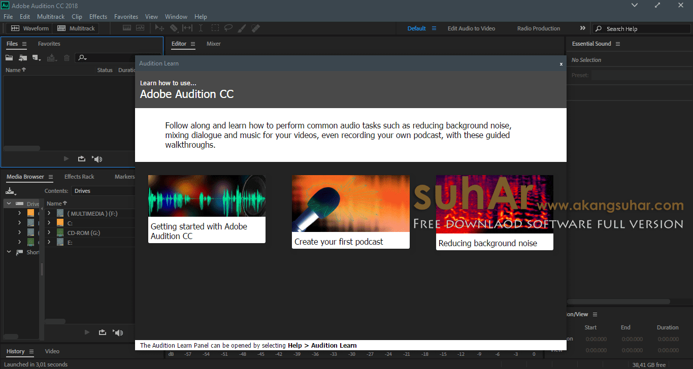 Gratis Download Adobe Audition CC 2018 Full crack Terbaru, Adobe Audition CC 2018 Registration Code, Adobe Audition CC 2018 Activation Code, Adobe Audition CC 2018 Terbaru