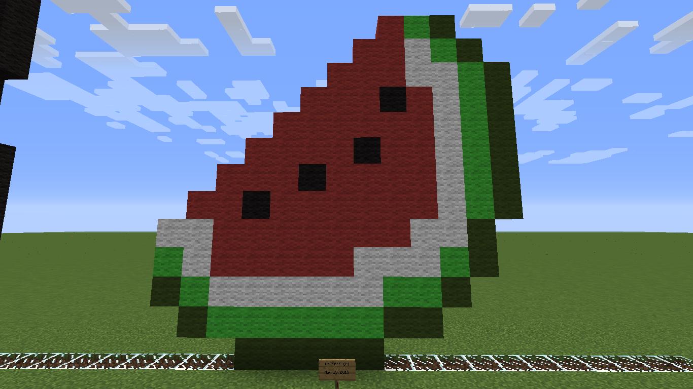 Risha's Minecraft Blog: Watermelon! ~ Pixel Art