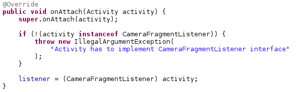 Android Zeitgeist: Using a fragment for the camera preview - Instant