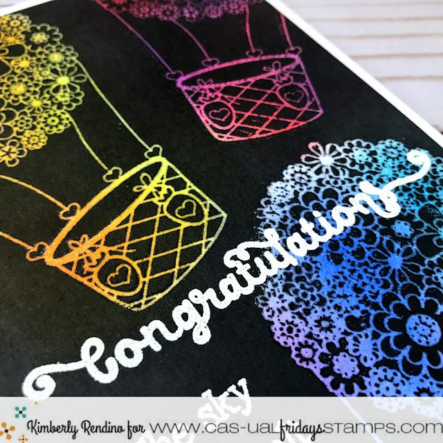 congratulations handmade card | hot air balloons | cas-ual fridays stamps | papercraft | cardmaking | clear stamps | handmade | kimpletekreativity.blogspot.com