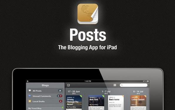 Posts blogging app for iPad