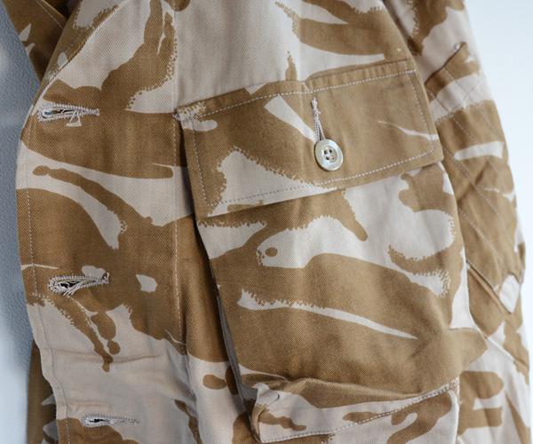 デッドストックヴィンテージ90年代イギリス軍DPMミリタリージャケットタイガーストライプチョコチップFUNS福島