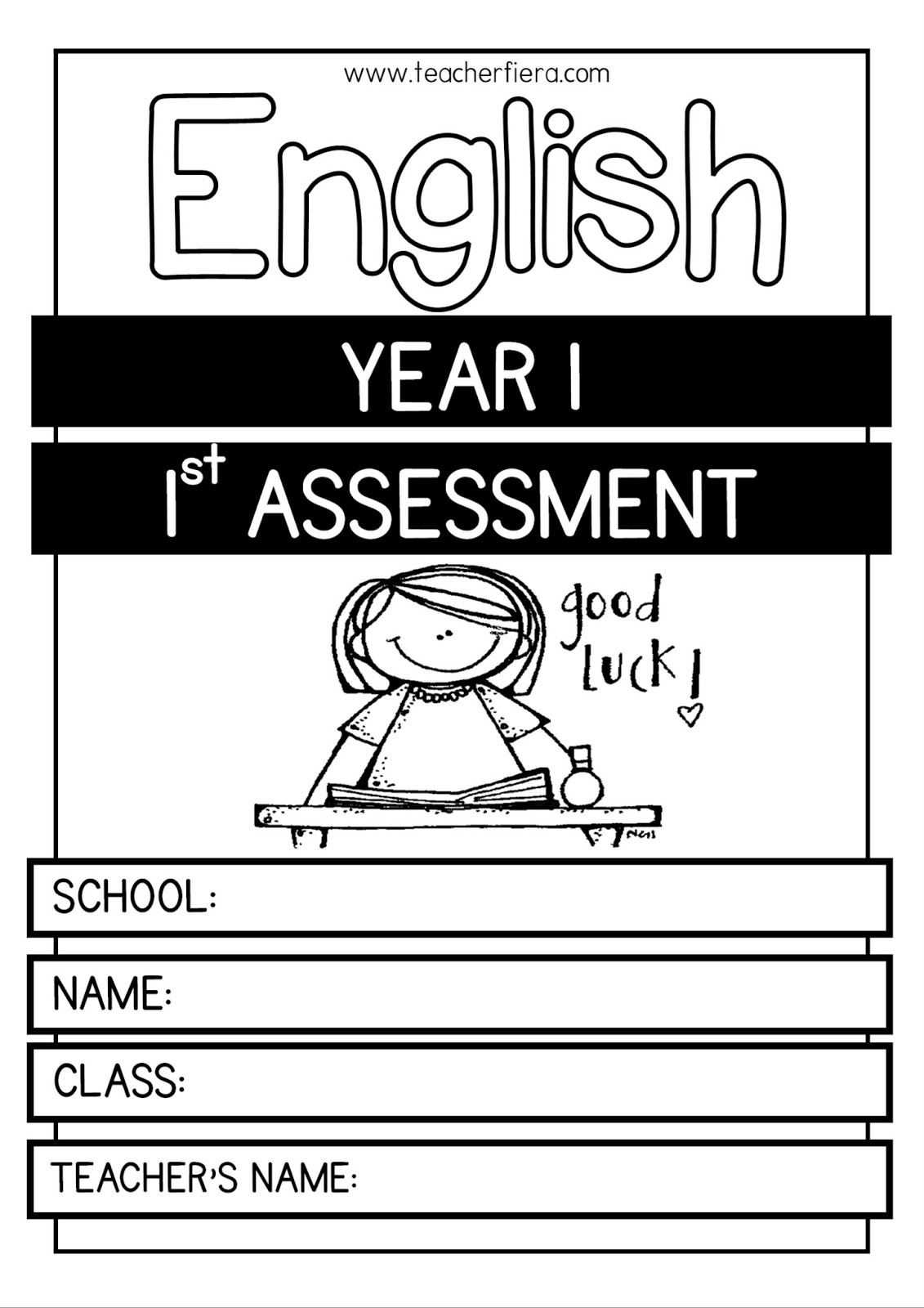Teacherfiera Year 1 1st English Assessment