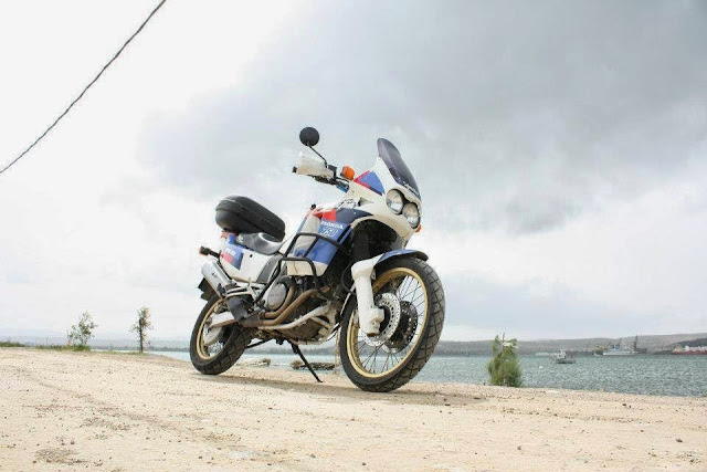 Here's another beatific shot of an Africa Twin...