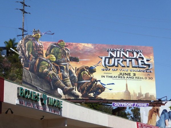 Teenage Mutant Ninja Turtles Out of the Shadows movie billboard