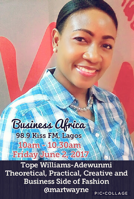Fashion and the Business on Business Africa, 98.9 Kiss FM Lagos