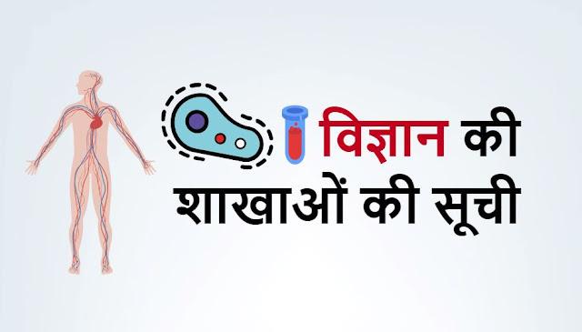 विज्ञान की शाखाओं की सूची pdf - Branches Of Science And Their Studies In Hindi