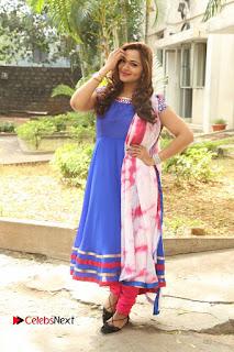 Actress Ashwini Stills in Blue Chudidar at Ameerpet Lo Release Press Meet  0223.JPG