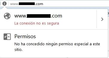 Marcado de página no segura en Firefox
