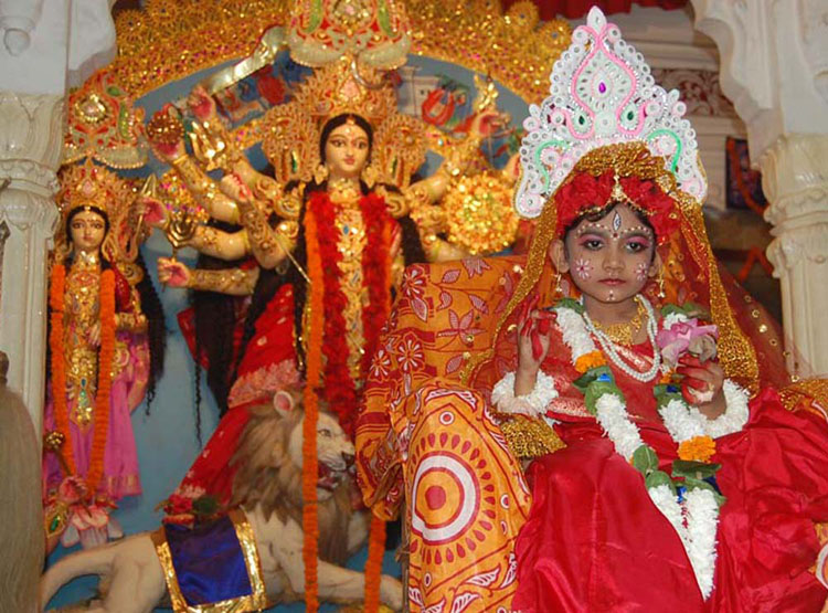 Varanasi View: Kumari Puja performed at Ram Krishna Mission