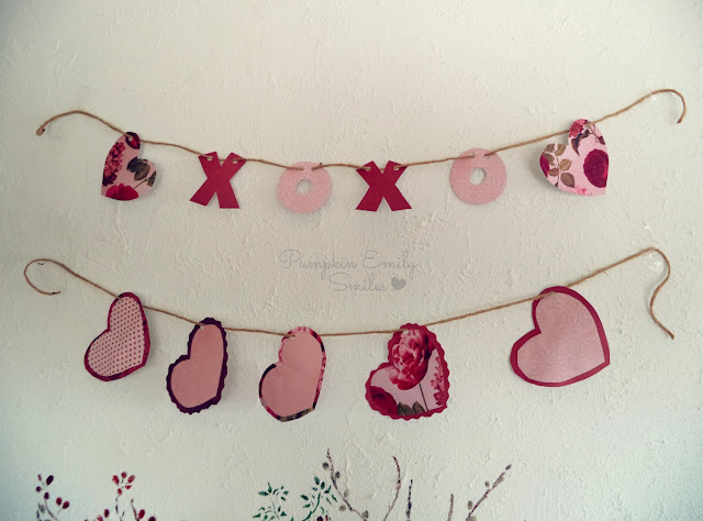 XOXO and heart garlands