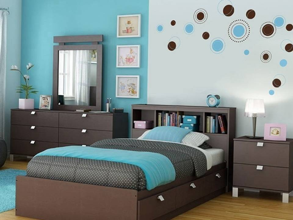 modern brown bedroom ideas brilliant turquoise furniture and painting interior house 16334