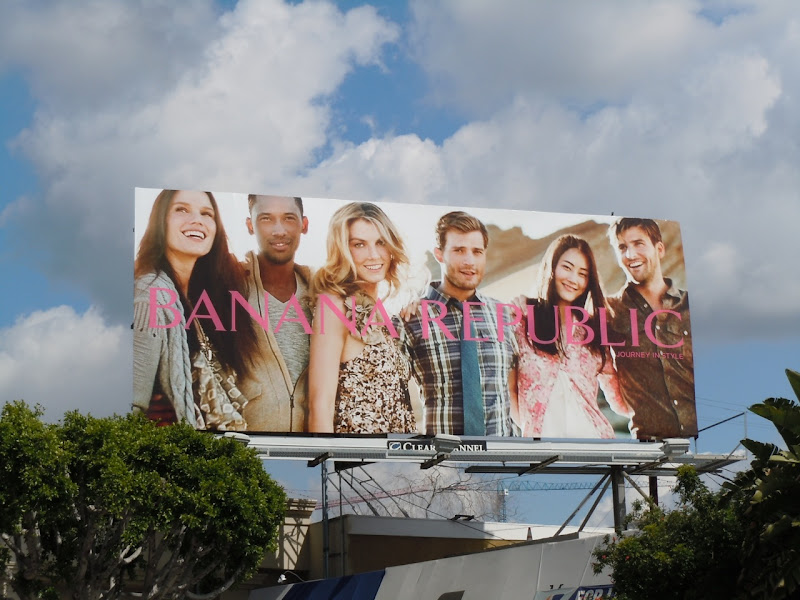 Banana Republic models billboard