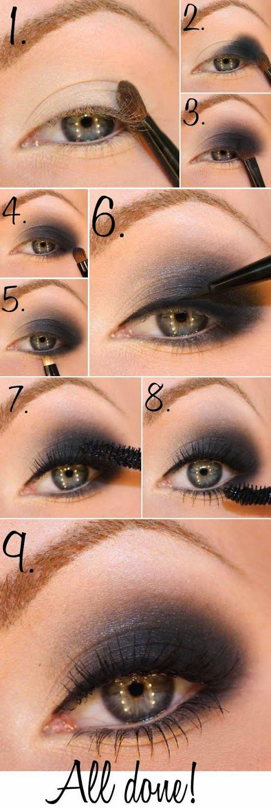 Step By Step Pictures Smokey Eye