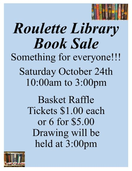 10-24 Roulette Library Book Sale