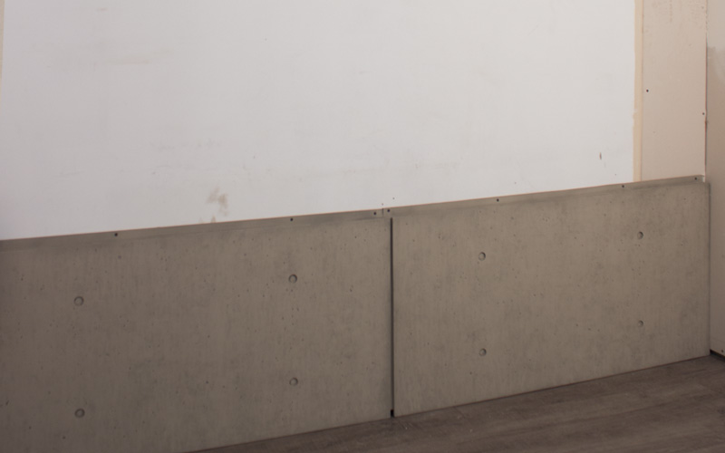 Using A Stud Finder Mark The Studs To Install Your Faux Concrete Panels Onto