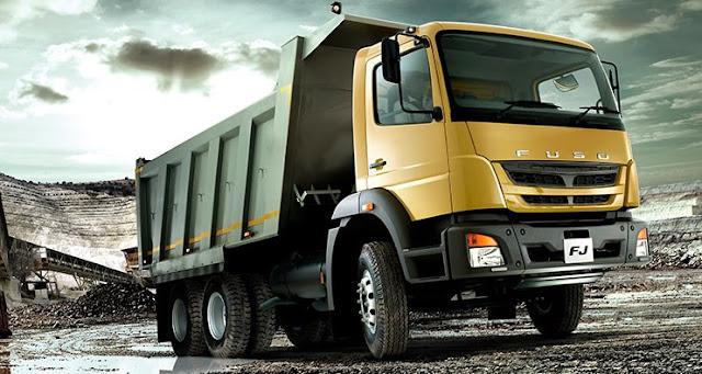 dump truk fuso mitsubishi terbaru