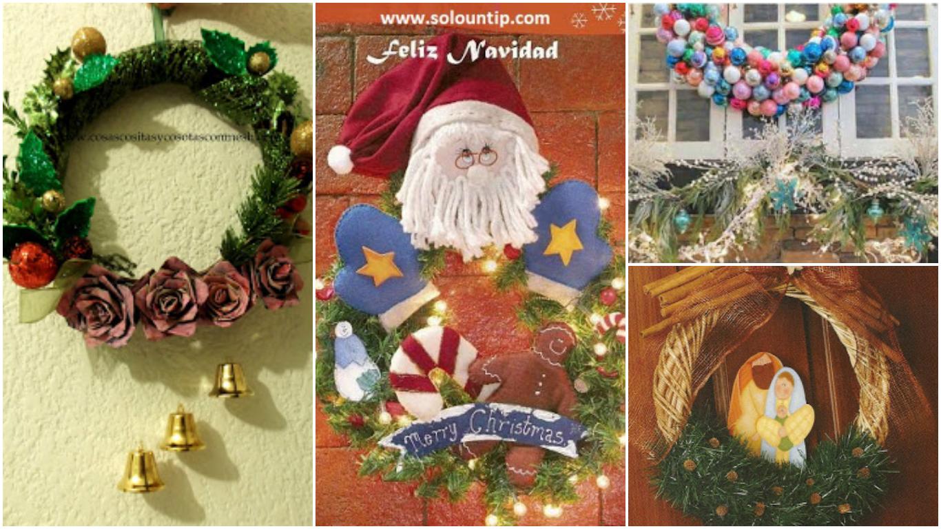 8 ideas y manualidades para hacer coronas navide as paso a - Manualidades navidenas paso a paso ...
