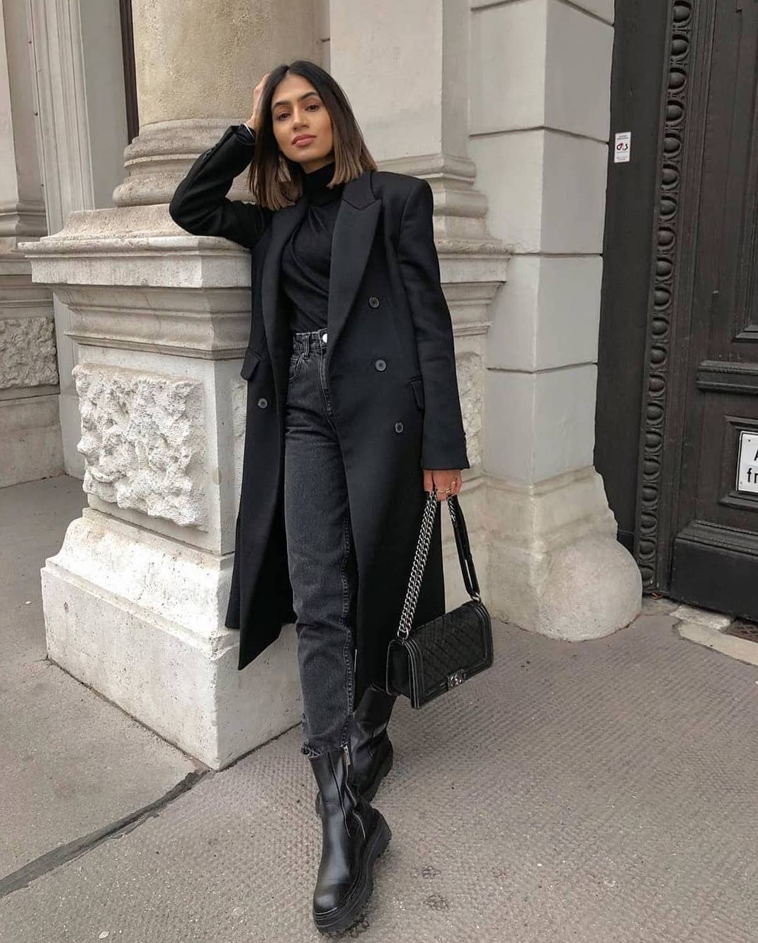 We Love How Chic this All Black Outfit Looks