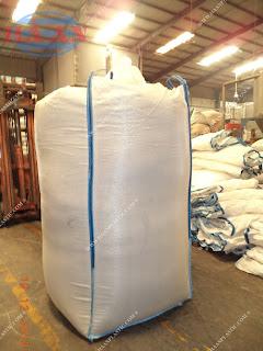 Bao Hồng Kông (Bao big bag) 1-2 tấn đã qua sử dụng (mới 90%) giảm chi phí đóng gói và vận chuyển cho hàng khoáng sản, vật liệu xây dựng, mùn cưa