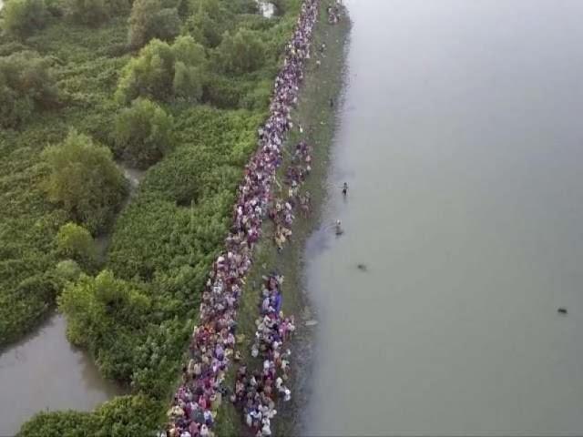 Ketika Penderitaan Muslim Rohingya Terekam Kamera Drone