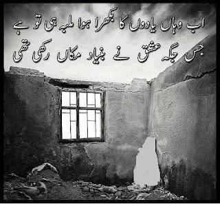 Ab Wahan Yaadon ka Bikhra hua Malbah he too hai    Urdu Poetry Lovers