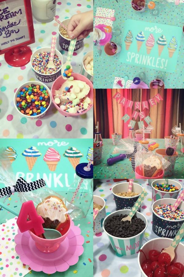 Sprinkles party theme for kids birthday.