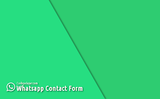 Cara Membuat Widget Contact Form WhatsApp