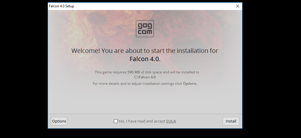 gog installation failed out of disk space