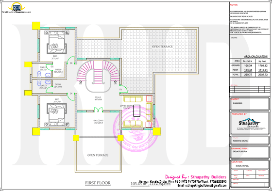 First floor plan drawing