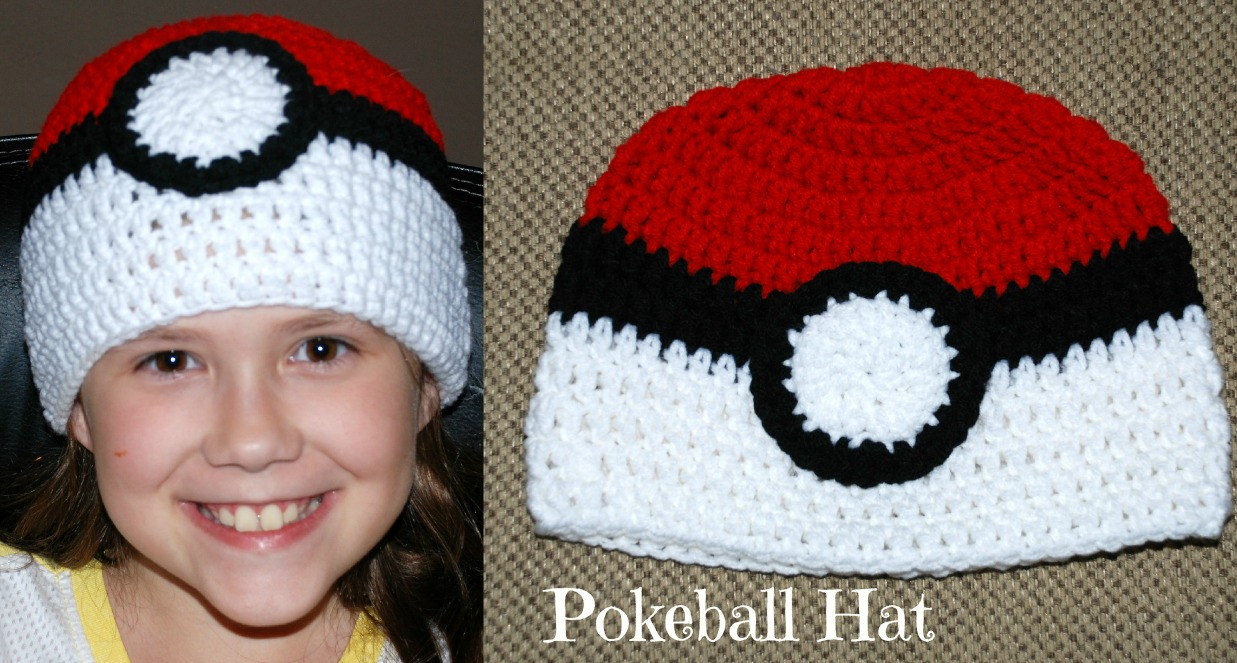 Amy\'s Crochet Creative Creations: Crochet Pokeball Hat (All Sizes)