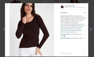 paper faces butik instagram kahverengi basic tişört