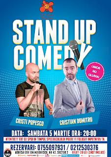 Stand-Up Comedy Sambata 5 martie Bucuresti