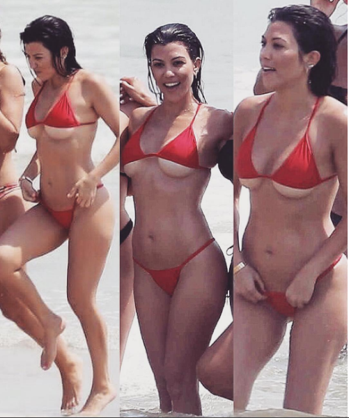 Super hot photos kourtney kardashians underboob