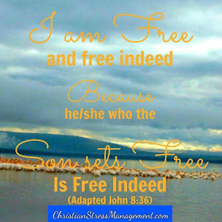 I am free and free indeed because the person who the Son of God Jesus Christ sets free is free indeed. (Adapted John 8:36)